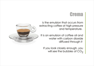 Barista course notes - Demystifying crema